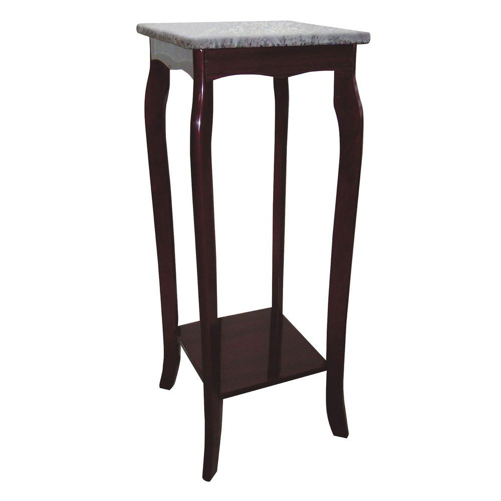 Great Brown Marble Top Indoor Plant Stand