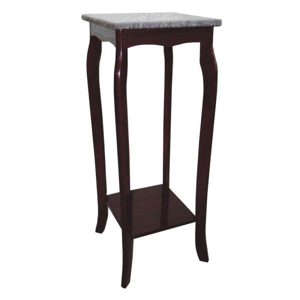 undefined Brown Marble Top Indoor Plant Stand