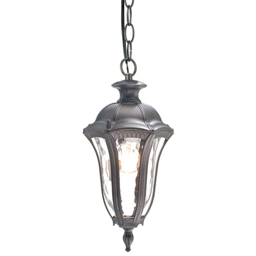 Sutton Collection 1-Light Antique Brown Outdoor Hanging Lantern