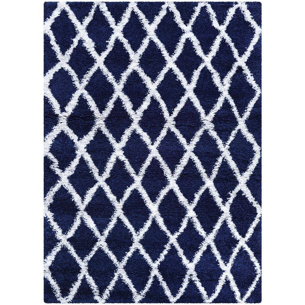 Navy Blue White And Gray Bedroom: Couristan Urban Shag Temara Navy Blue-White 5 Ft. X 8 Ft