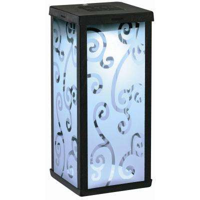 Frosted Scroll Integrated LED Solar Lantern