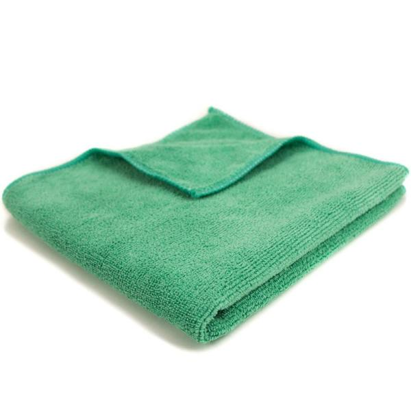 16 in. x 16 in. General Purpose Microfiber Cleaning Cloth in Green (12-Pack)