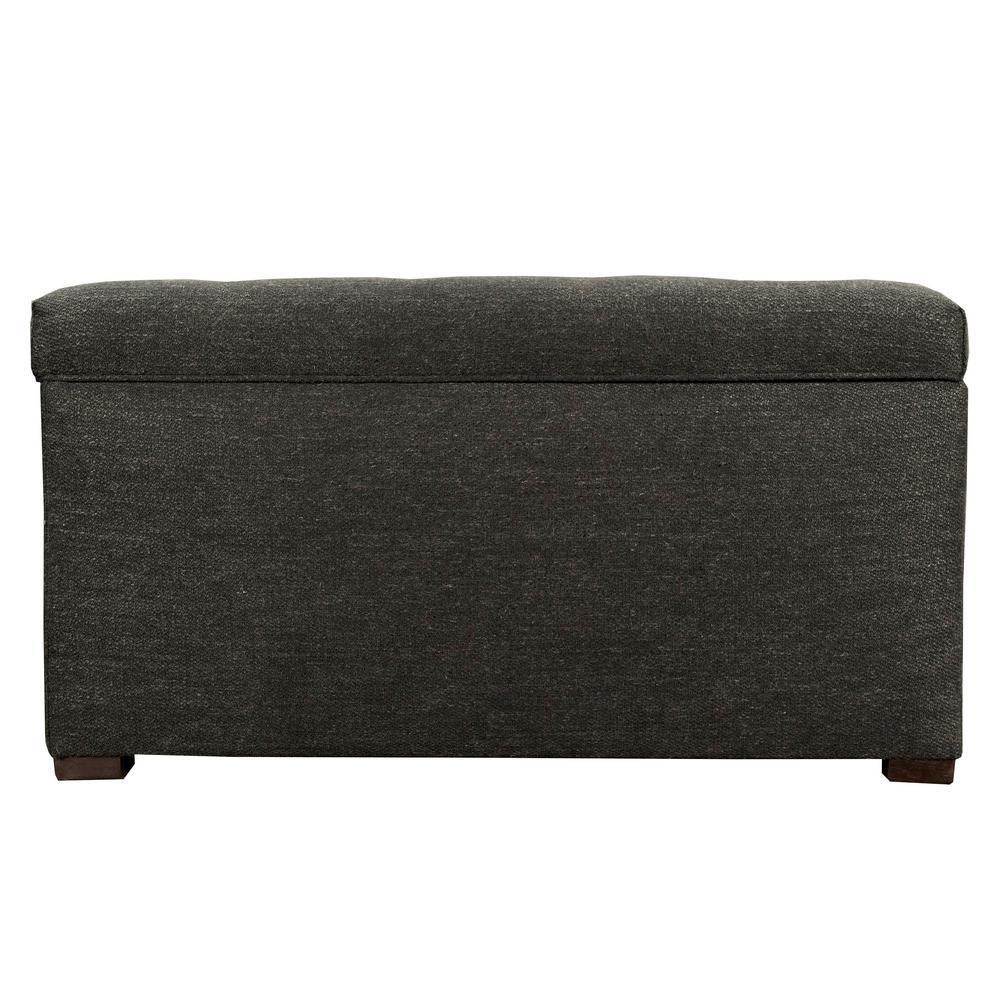 MJL Furniture Designs Angela Belfast Charcoal Button Tufted Upholstered Storage Trunk