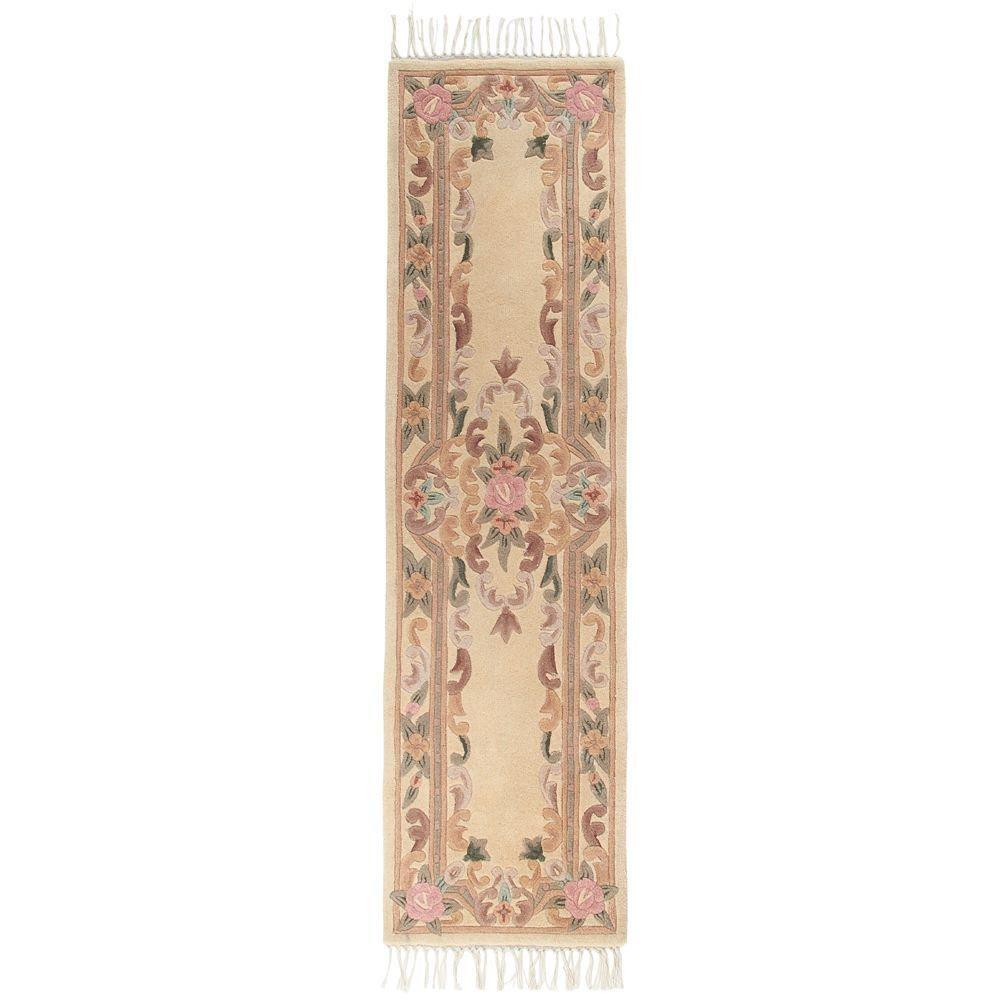 Home Decorators Collection Imperial Ivory 2 ft. 6 in. x 15 ft. Rug Runner
