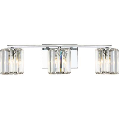 Divine 3-Light Polished Chrome Vanity Light
