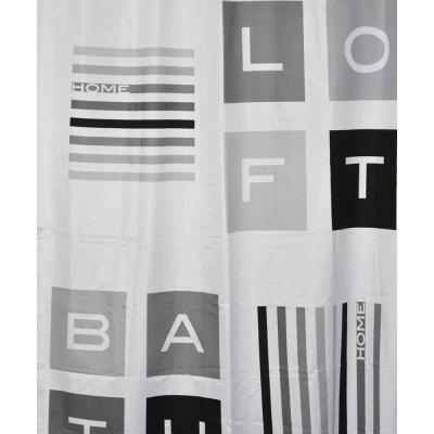 71 in. x 79 in. Peace and Loft Polyester Fabric Shower Curtain Multicolored
