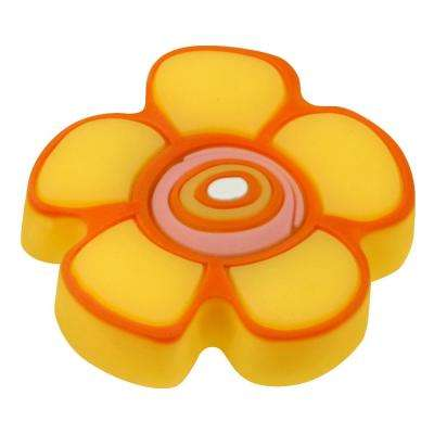 Kids Corner Flower 1-5/8 in. Multi-Colored Metal Cabinet Knob