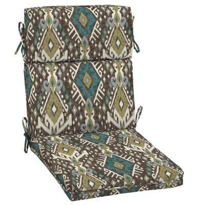 21 x 20 Tenganan High Back Outdoor Dining Chair Cushion
