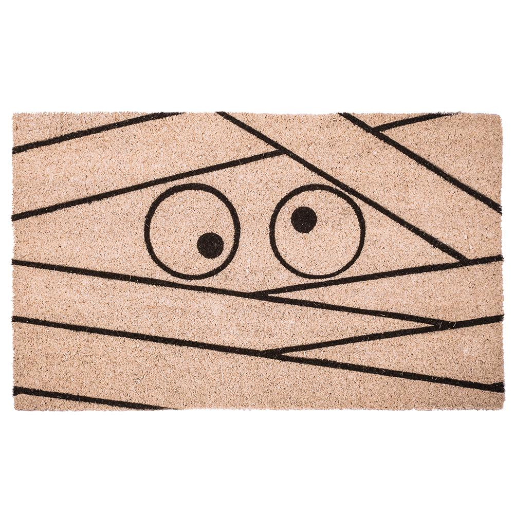 entryways mummy 17 in. x 28 in. non-slip coir door mat-p2129 - the