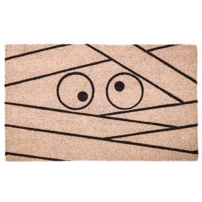 Mummy 17 in. x 28 in. Non-Slip Coir Door Mat