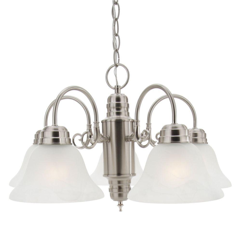 Millbridge 5-Light Satin Nickel Chandelier
