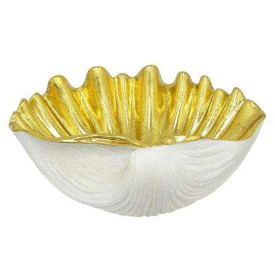 9 in. White Shell Tabletop Decoration