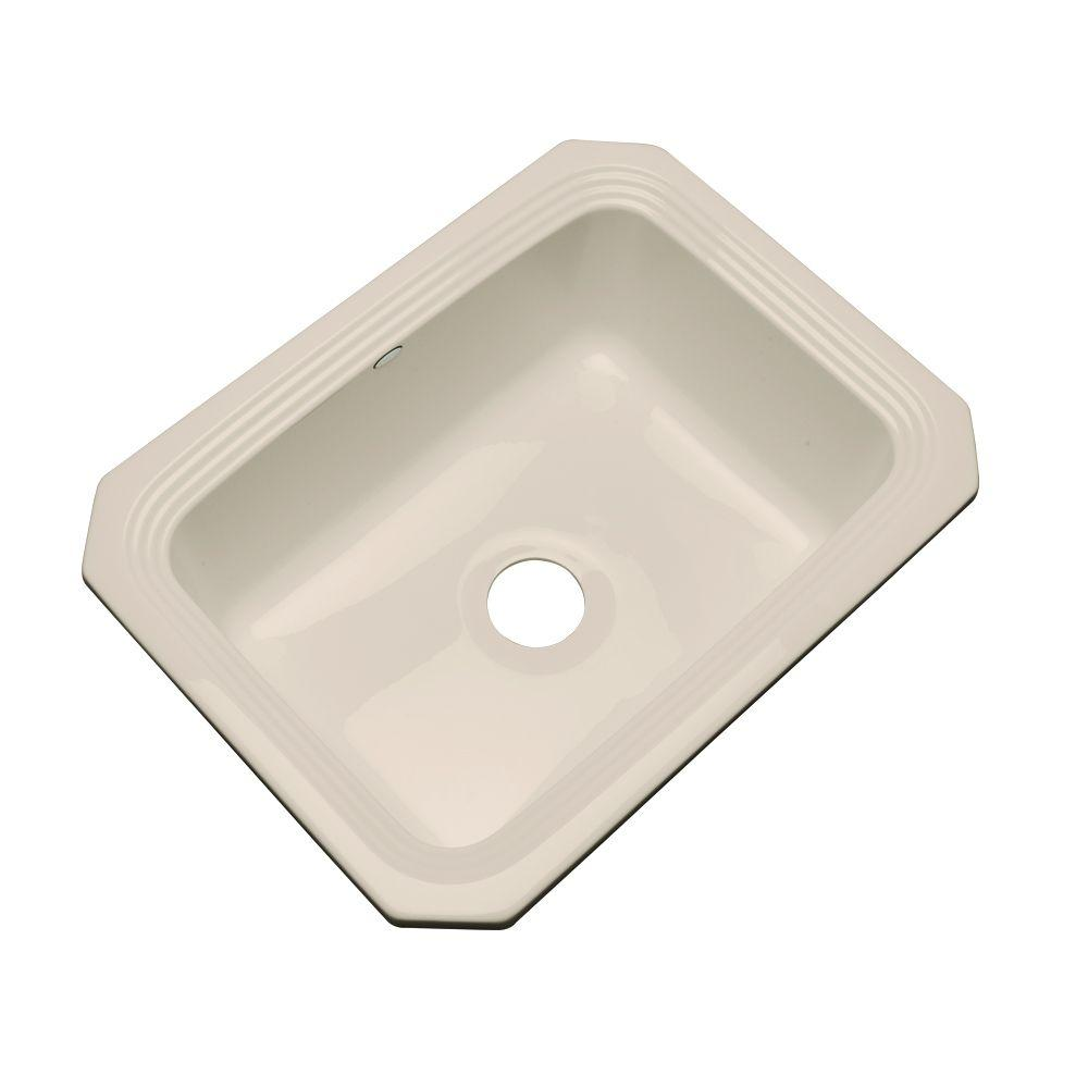 Rochester Undermount Acrylic 25 in. Single Bowl Kitchen Sink in Candlelyght