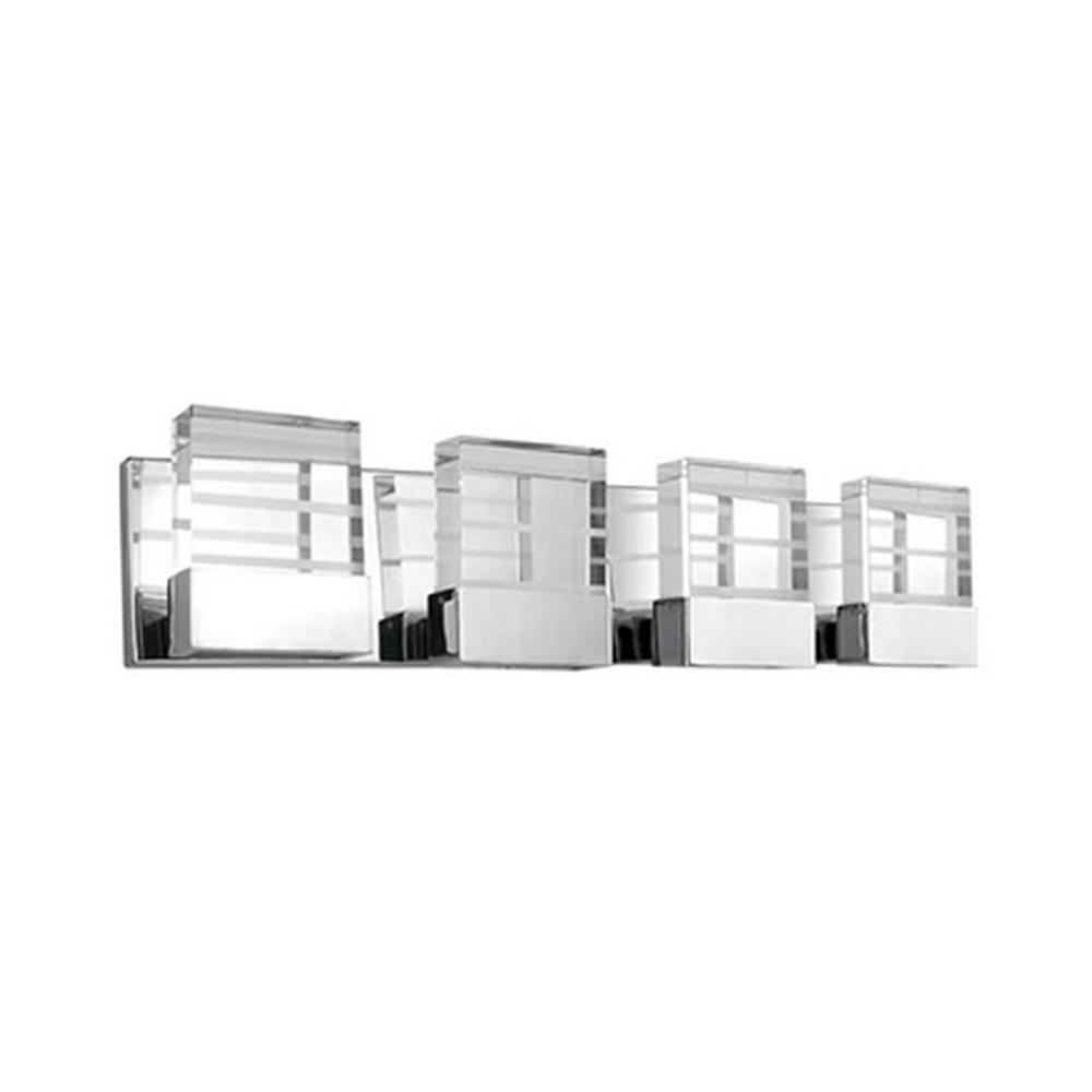 Yellin 4-Light Chrome 40-Watt Equivalence Integrated LED Bath Light