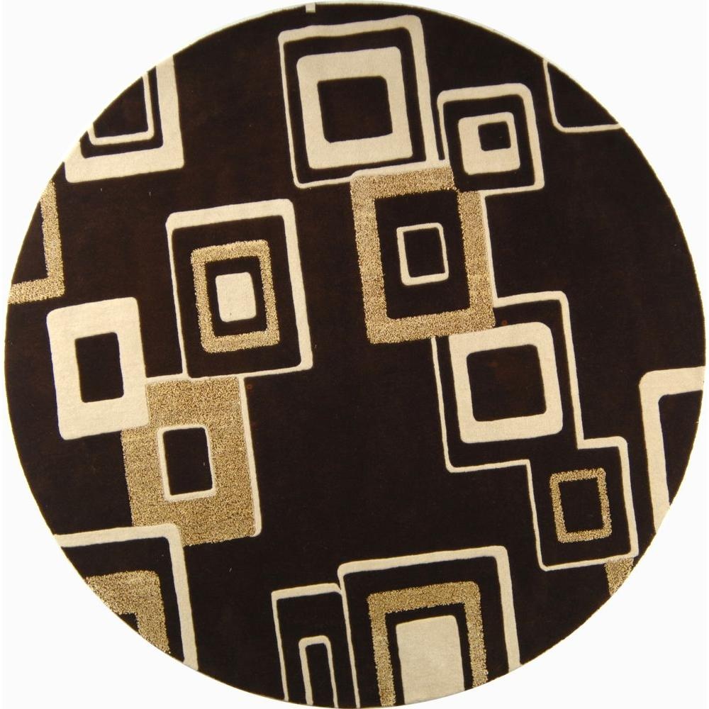 Safavieh Soho Brown Beige 8 Ft X Round Area Rug