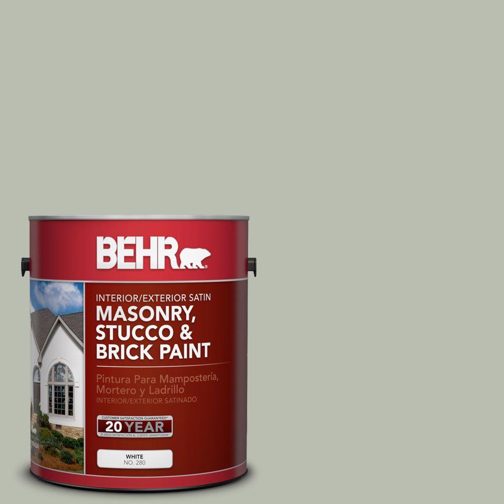BEHR Premium 1-gal. #MS-50 Prairie Sage Satin Interior/Exterior Masonry, Stucco and Brick Paint