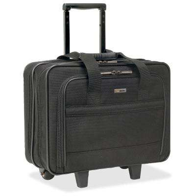 15.6 in. Classic Polyester Notebook Roller Carrying Case with Handle