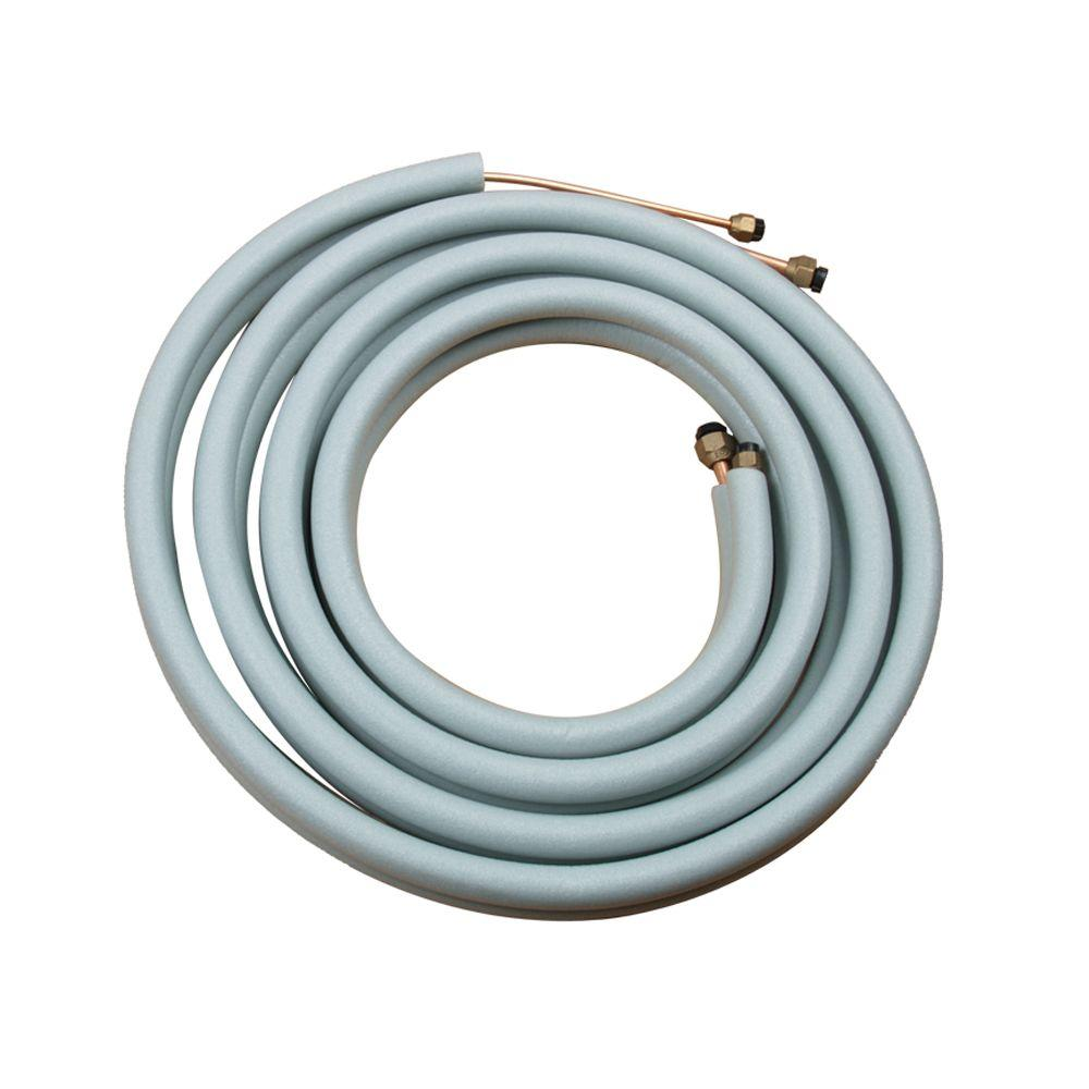 Amvent 26 ft. Insulated Copper Line Set for 12,000 BTU Inverter