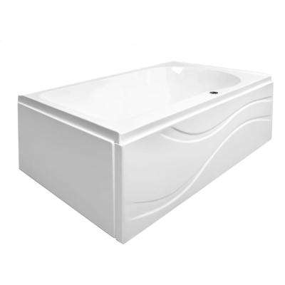 Solo 60 in. L Acrylic with Left Drain Rectangular Alcove Infusion MicroBubble Air Bath Bathtub in White