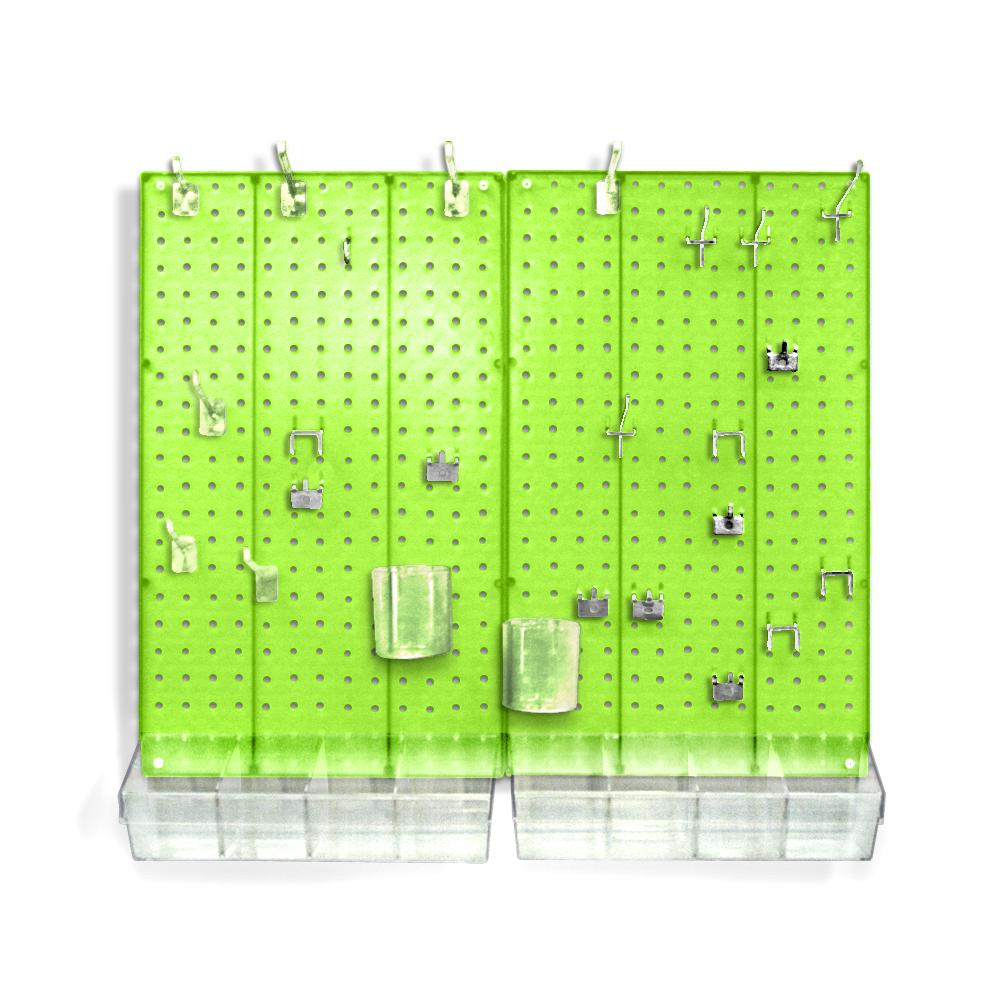 Azar Displays 22 in. H x 27 in. W x .125 D Styrene Pegboard Kit (70 Pieces)