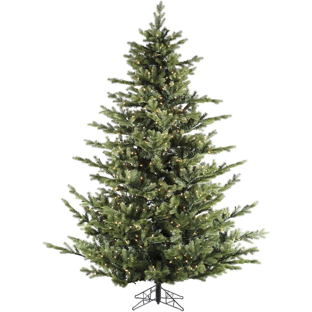 Fake Christmas Tree.Fraser Hill Farm 9 Ft Pre Lit Led Foxtail Pine Artificial Christmas Tree With 1250 Clear String Lights