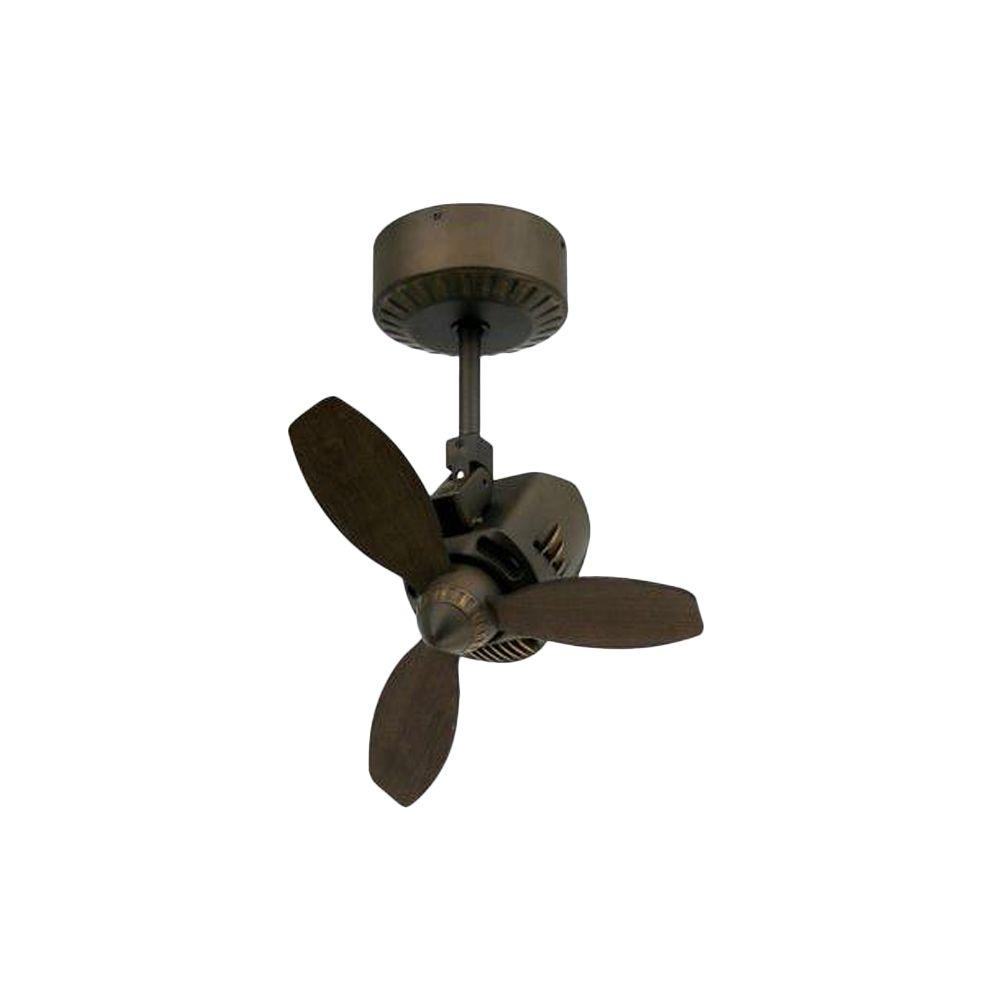 TroposAir Mustang In Oscillating Rubbed Bronze IndoorOutdoor - Kitchen ceiling fans without lights