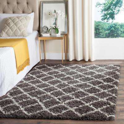 Beverley Dark Gray Ivory 6 Ft X 9 Area Rug