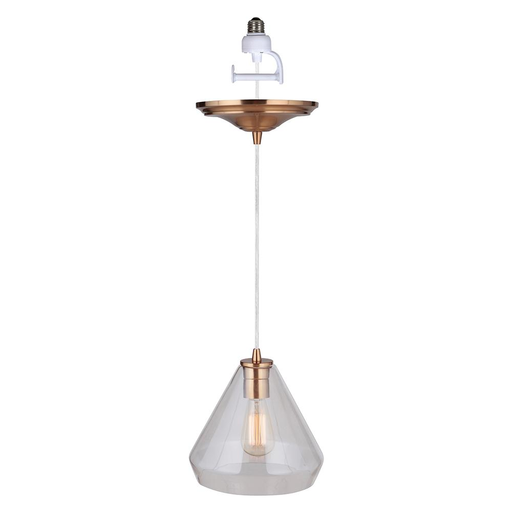 Worth Home Products Instant Pendant 1 Light Brushed Brass