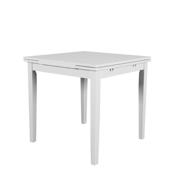 Tremendous Corliving Dillon White Wood Extendable Dining Table Dsh 210 Gamerscity Chair Design For Home Gamerscityorg