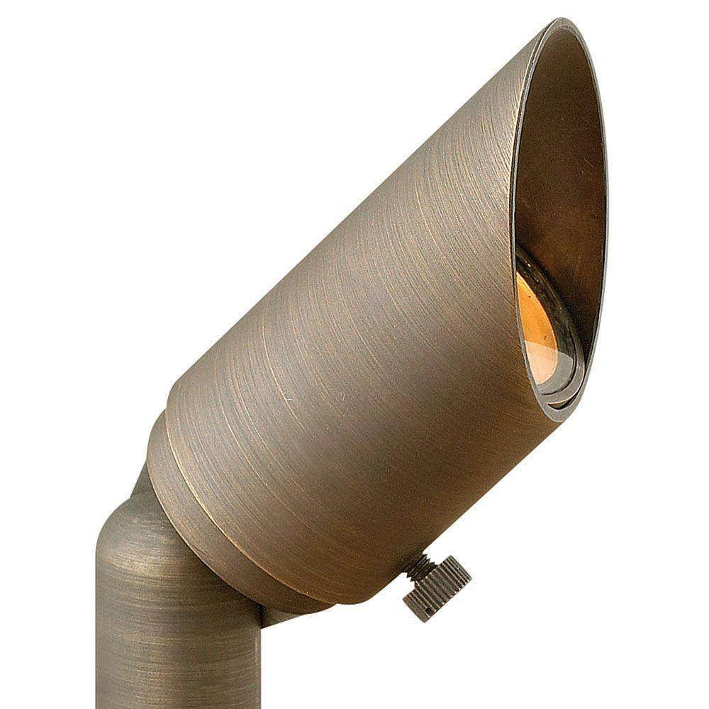 Low-Voltage 35-Watt Matte Bronze Hardy Island MR11 Cast Brass Spot Light