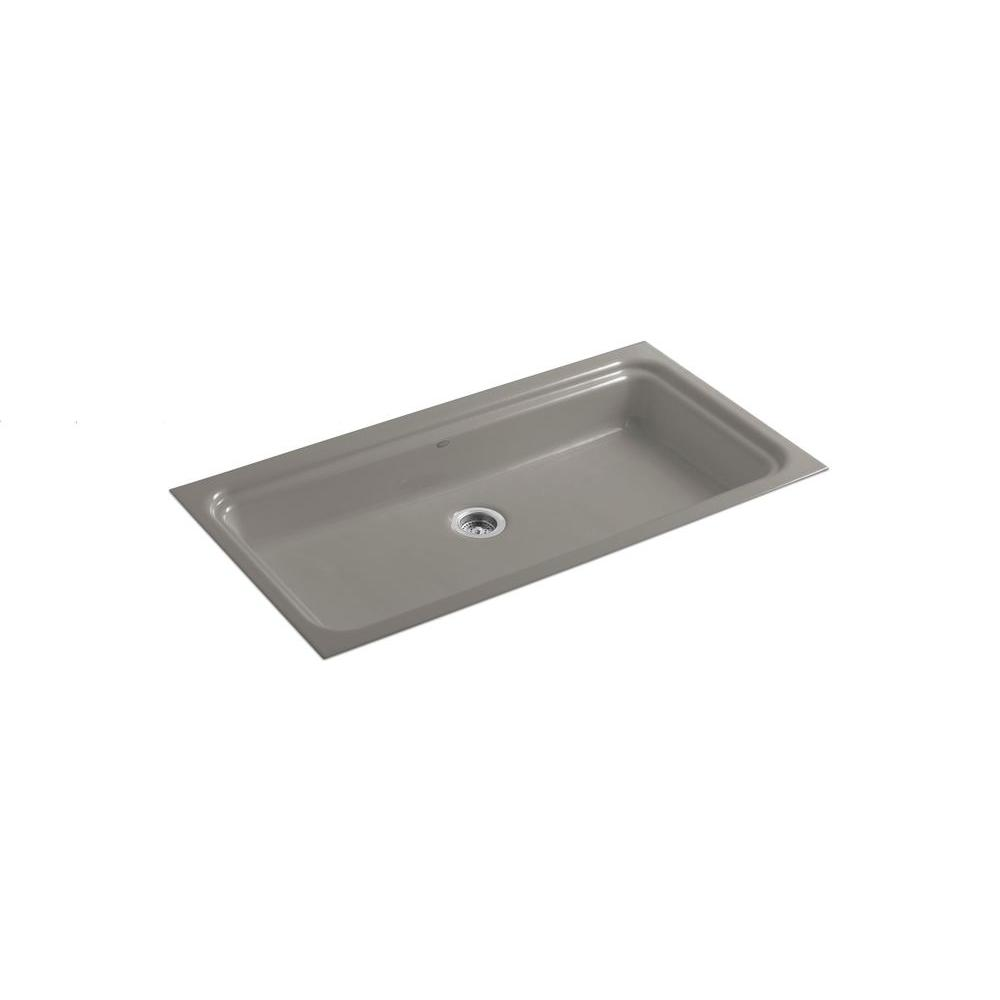 KOHLER Oceanview 48 in. x 25 in. Cast Iron Utility Sink-DISCONTINUED