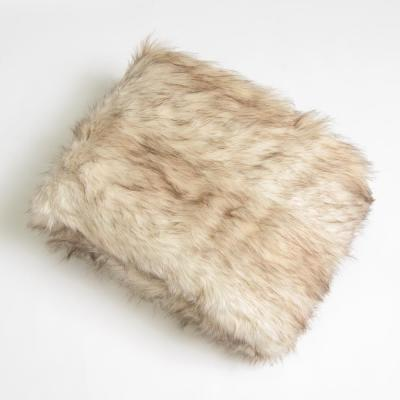 Champagne Fox Faux Fur Throw 58 in. x 60 In.