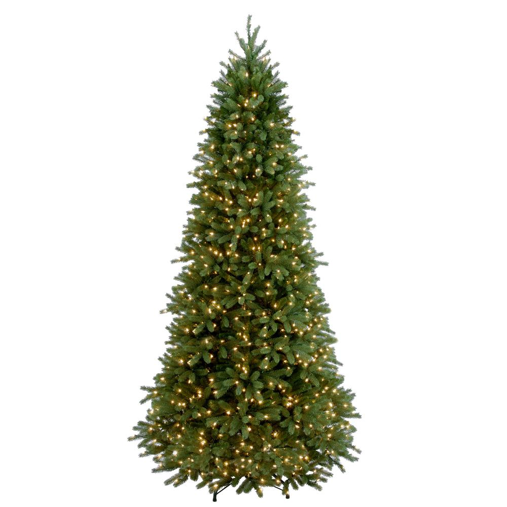 national tree company 9 ft feel real jersey frasier fir slim hinged artificial christmas tree