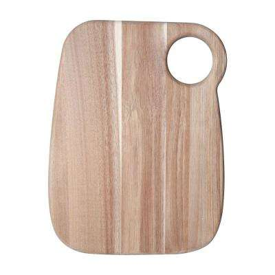 15 in. Natural Square Acacia Wood Cheese Board