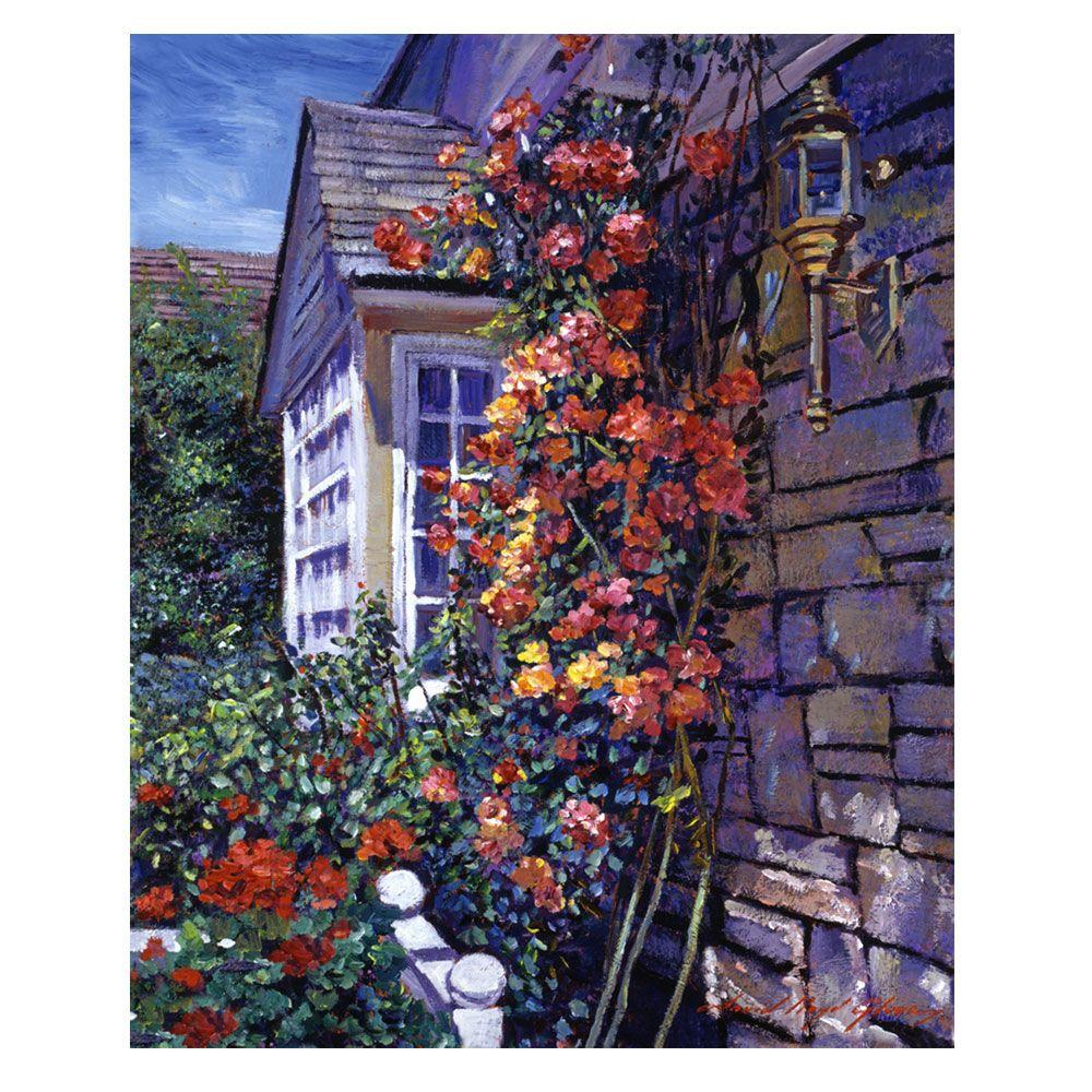 Trademark Fine Art 26 in. x 32 in. Magnificent Climbing Roses Canvas Art