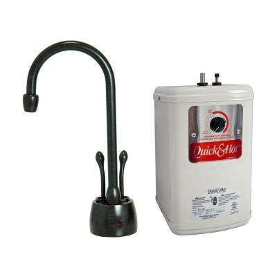 2-Handle Hot and Cold Water Dispenser Faucet with Heating Tank in Venetian Bronze