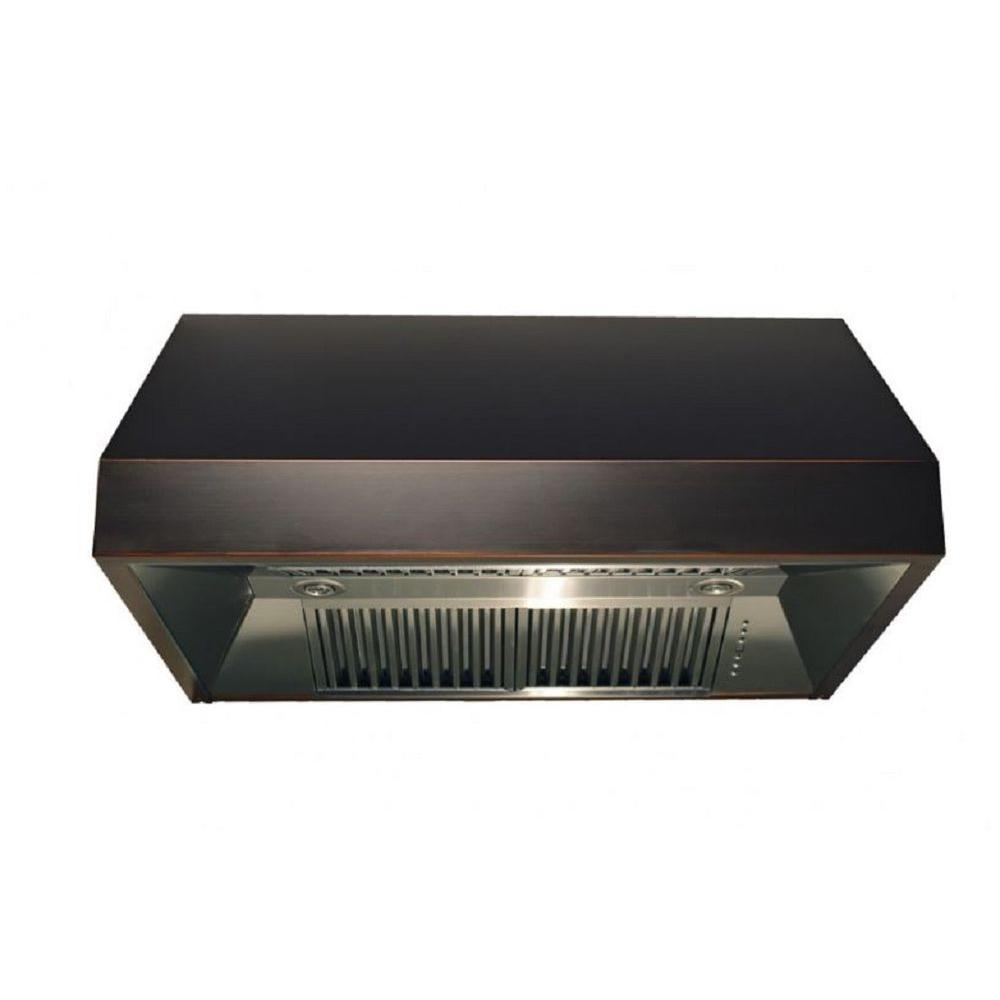 Zline Kitchen And Bath Zline 48 In. 1200 Cfm Under Cabinet Range Hood In Oil Rubbed Bronze With Copper Accents, Oil Rubbed Bronze Finish With Copper Accents