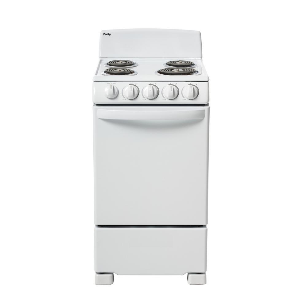 danby 20 in electric range in white der202w the home depotdanby 20 in electric range in white