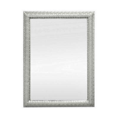 35.5 in. Metal Frame Mirror in Silver