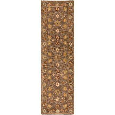 Middleton Lily Brown 2 ft. x 12 ft. Indoor Runner Rug