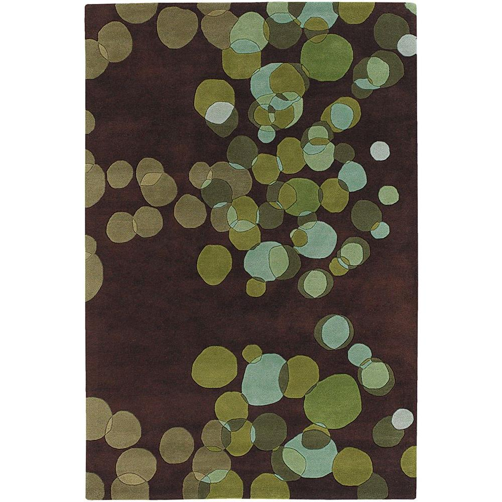 Chandra Avalisa Green Brown Blue 8 Ft X 11 Indoor Area
