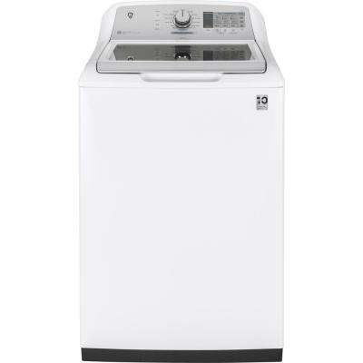 5.0 cu. ft. High-Efficiency White Top Load Washing Machine and Wi-Fi Connected with SmartDispense, ENERGY STAR
