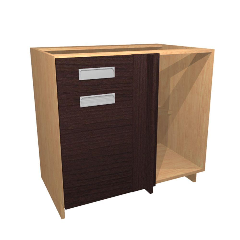 Home Decorators Collection 36x34.5x24 In. Genoa Blind Base Corner Cabinet  With 1 Soft