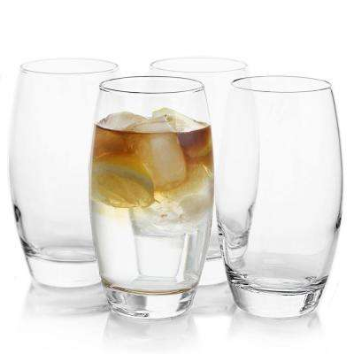 Carlo 17 oz. Tall Glass Highball Glass Set