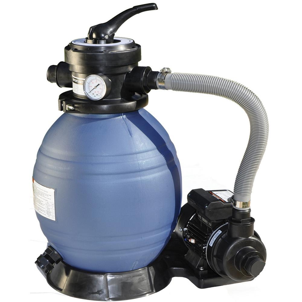 blue torrent 14 in sand pool filter with 1 3 hp pump 11315 the home depot. Black Bedroom Furniture Sets. Home Design Ideas