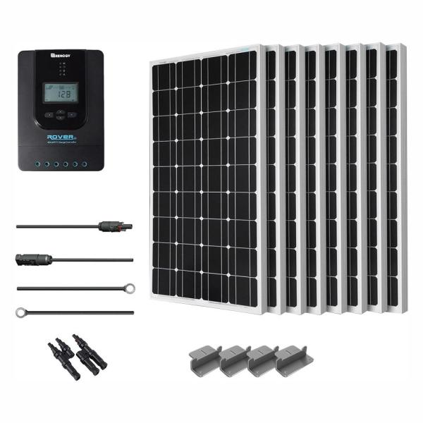 800-Watt 24-Volt Monocrystalline Solar Starter Kit for Off-Grid Solar System
