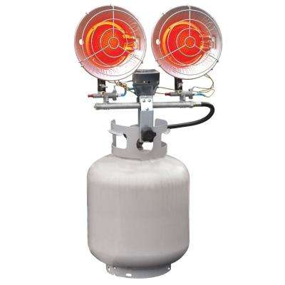 32,000 BTU Radiant Propane Double Tank Top Space Heater