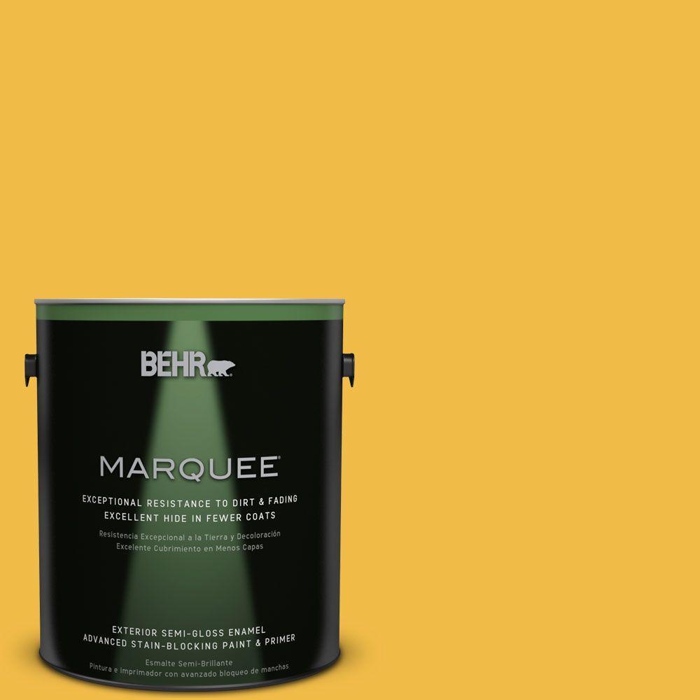 1-gal. #P280-6 Bling Bling Semi-Gloss Enamel Exterior Paint