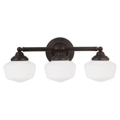 Academy 3-Light Heirloom Bronze Wall/Bath Light