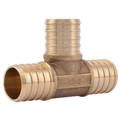 1 in. PEX Barb Brass Tee Fitting